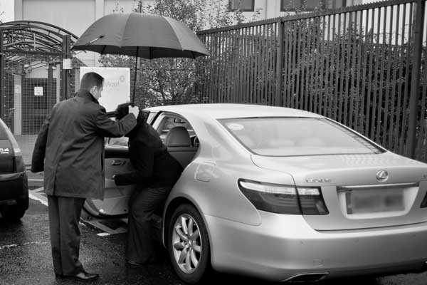 Assisting clients into and out of your vehicle